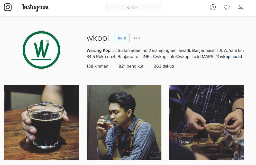instagram w kopi