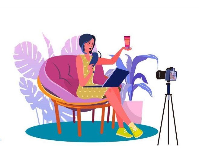 blogging vector