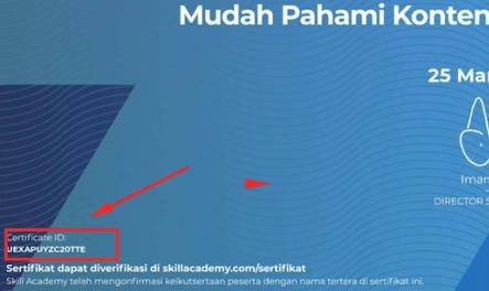 validasi sertifikat skill academy