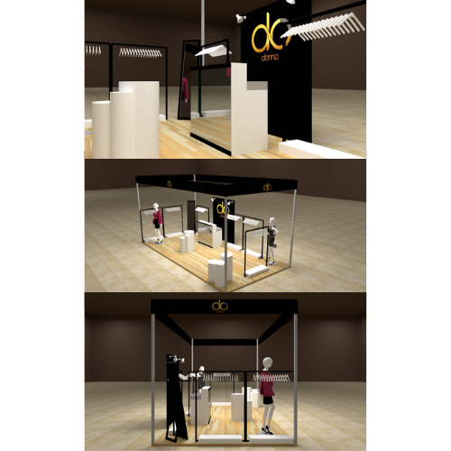 clothing booth design