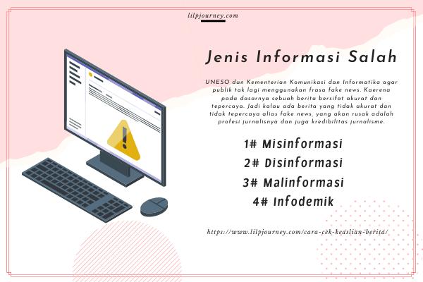 4 jenis informasi salah