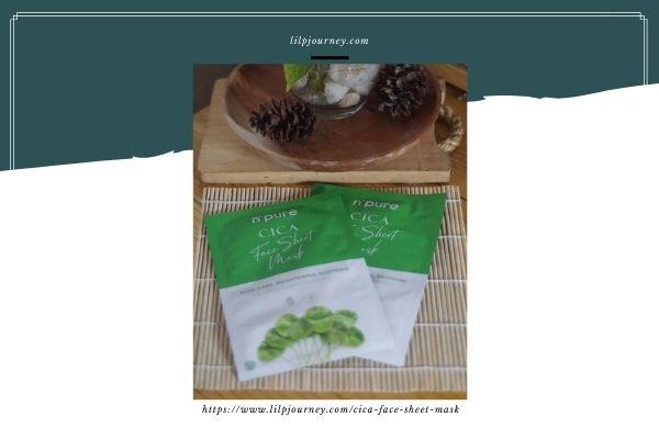 packaging sheet mask cica npure