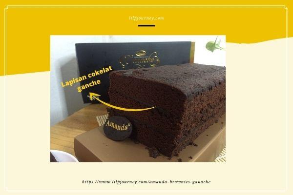 review produk brownies amanda cokelat ganache