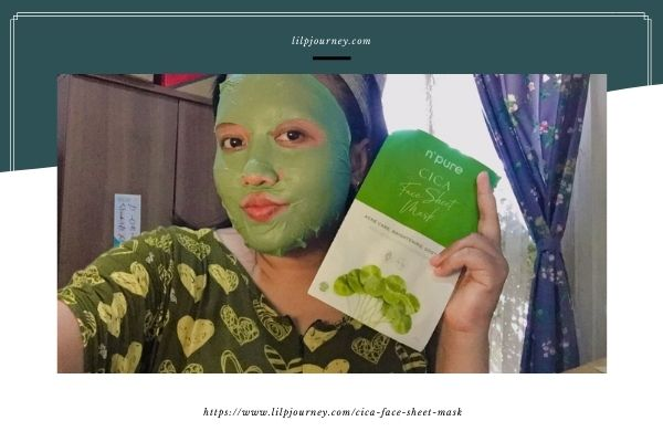 review cica face sheet mask